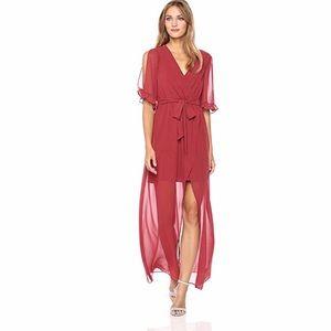 BCBGeneration Ruffle Sleeve Maxi Dress